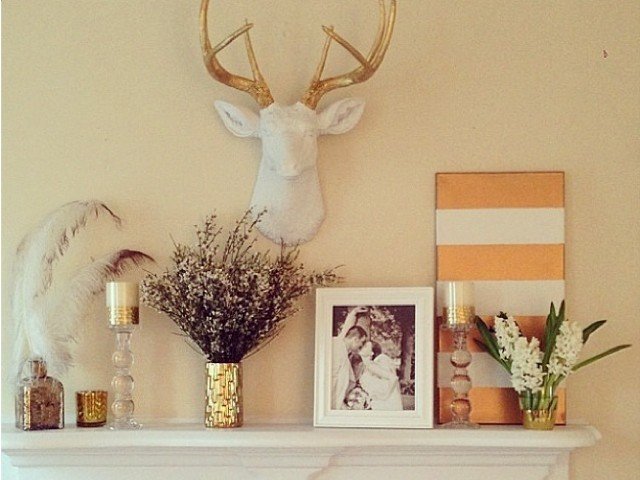 White Faux Taxidermy on Zola Wedding Registry