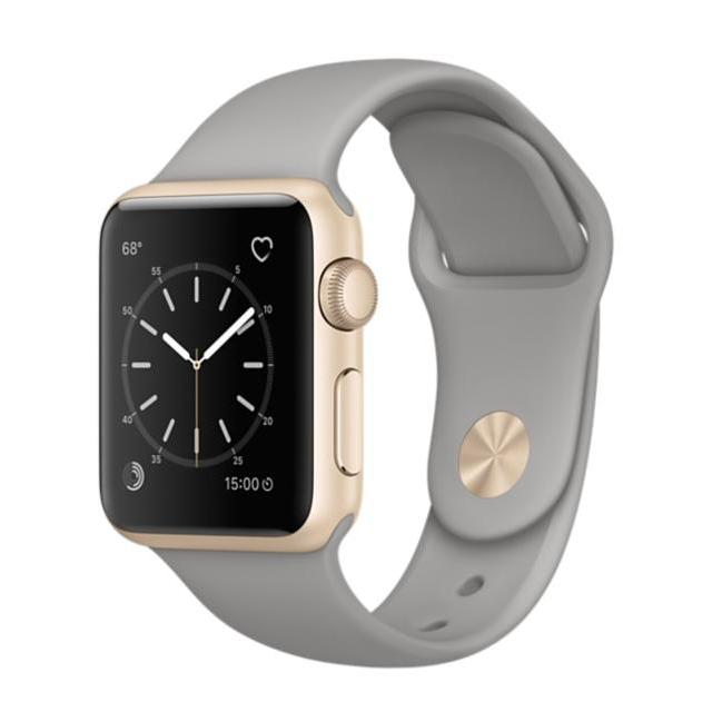 Apple Watch   Gold Aluminum Case with Concrete Sport Band