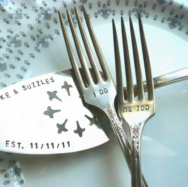 Vintage Cake Server Hand Stamped CUSTOMIZE your own