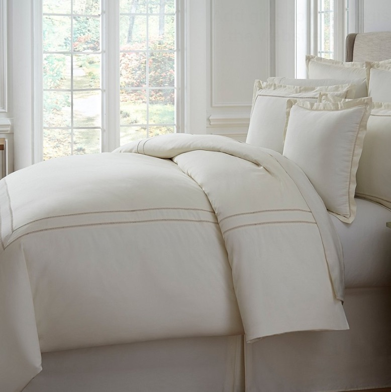 Southern Living Full Queen Heirloom 500 Thread Count Sateen Twill Comforter